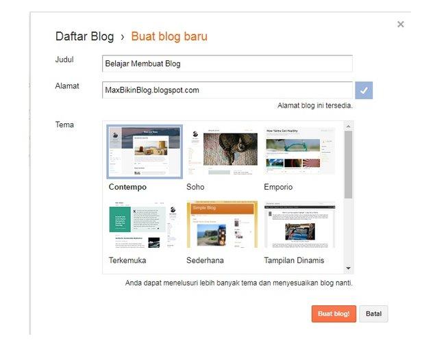 Cara Membuat Blog Website Gratis (Part 1) 3