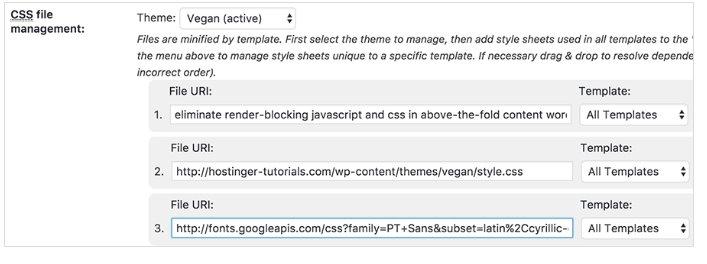 skor hijau Render-blocking JS and CSS