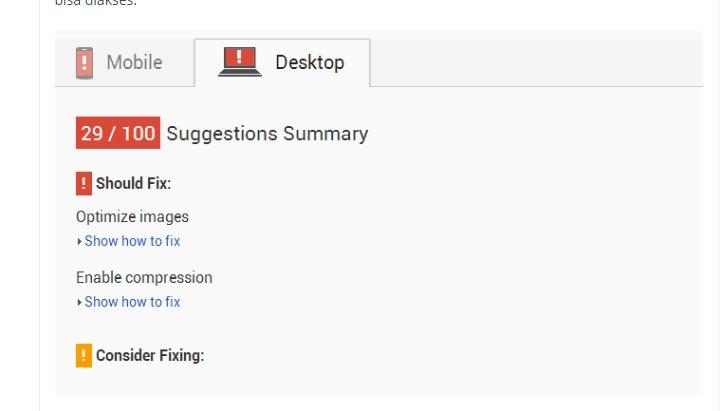 Tips Trik Mendapatkan Skor Hijau di google PageSpeed Insights