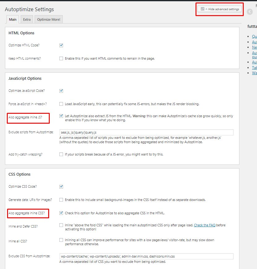 Mengatasi Render-blocking JS and CSS Menggunakan Autoptimize