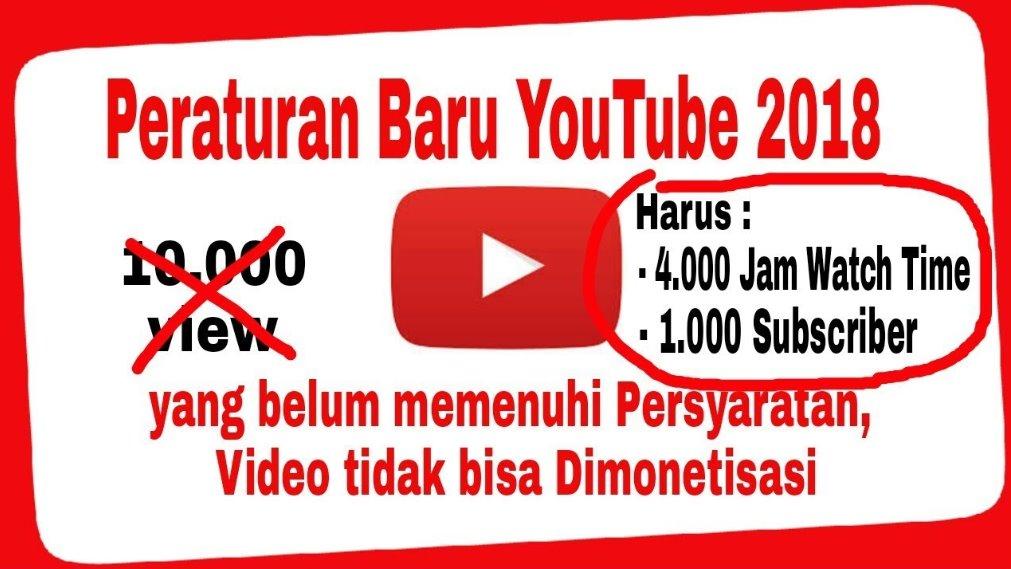 peraturan baru youtube