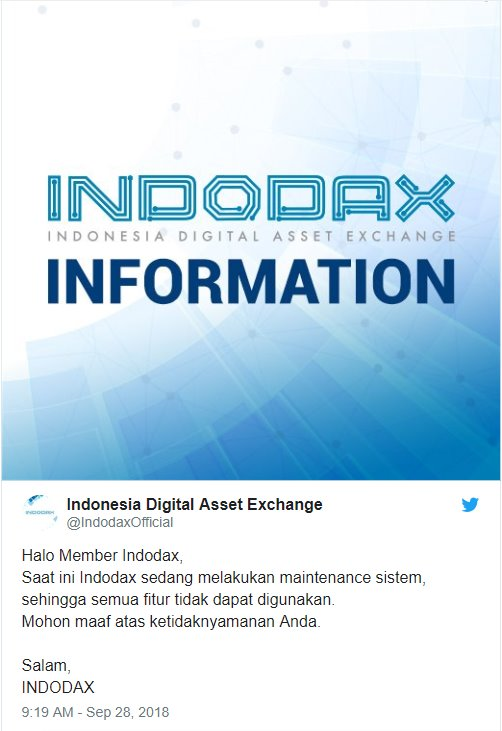 Situs Trading BTC Indodax Down
