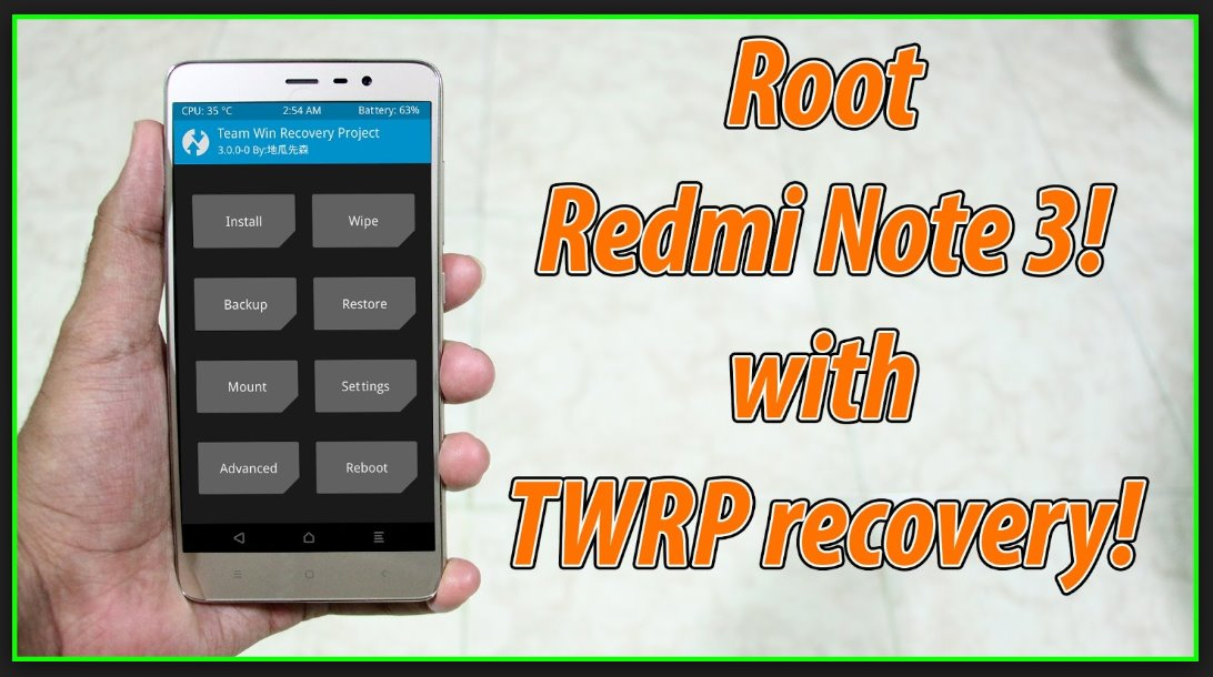 Cara Root, Instal TWRP Redmi Note 3 Pro