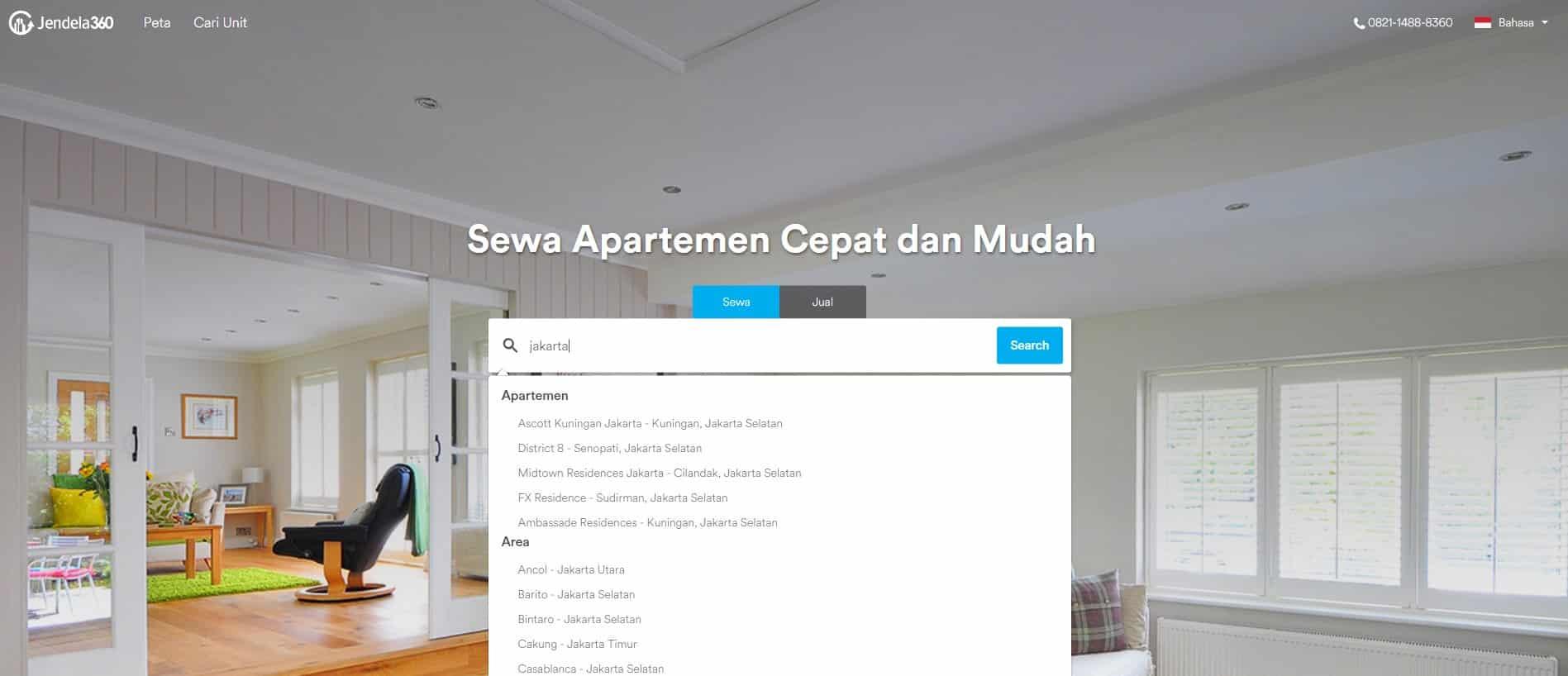 Sewa Apartemen Di Jendela360