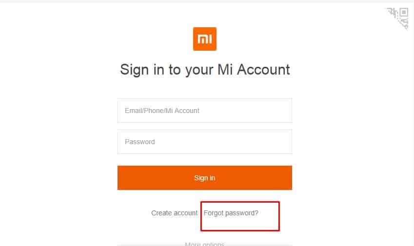 lupa password akun mi