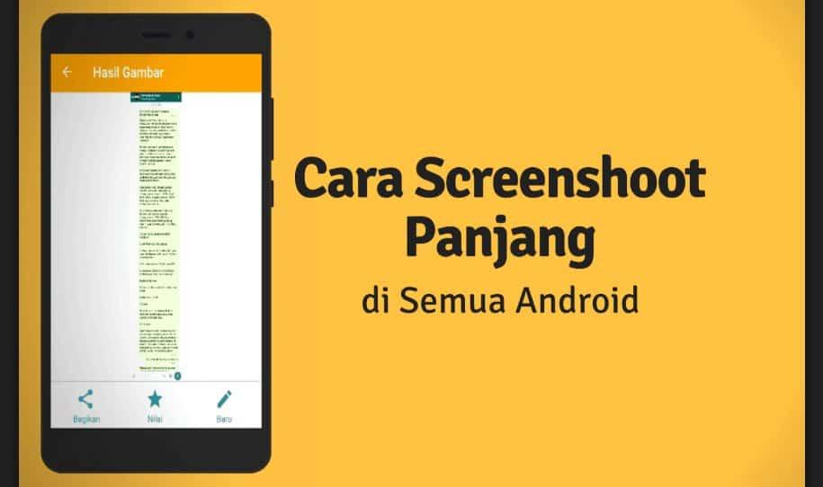Cara screenshot Panjang DI HP Xiaomi, Oppo, Samsung, Vivo Dan Huawei 1