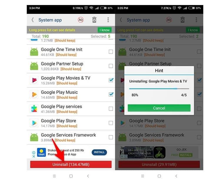 3 Cara Menghapus Aplikasi Bawaan Xiaomi, Samsung, Oppo, Vivo Atau Asus 2