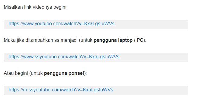 Cara download Video Dari Youtube ke HP