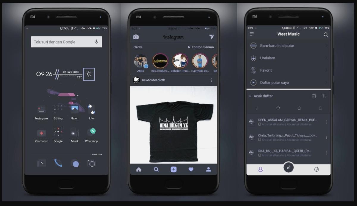 Tema Xiaomi Terbaru Untuk Hape Mi Ada Tema Anime, Bergerak, iOS Dll